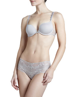 Natori Nuit Sweetheart Contour Bra & Stretch-Lace Briefs