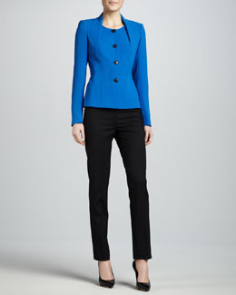 Lafayette 148 New York Nevina Button-Front Jacket & Bleecker Wool Pants
