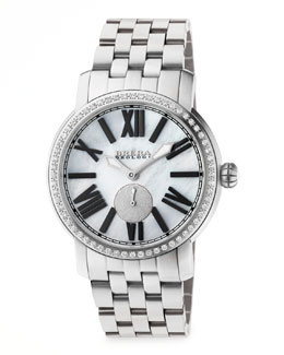 Brera 42mm Valentina II Diamond Stainless Steel Watch Head & 22mm Bracelet Strap