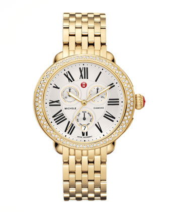 Serein Diamond Yellow Golden Watch Head & Bracelet Strap