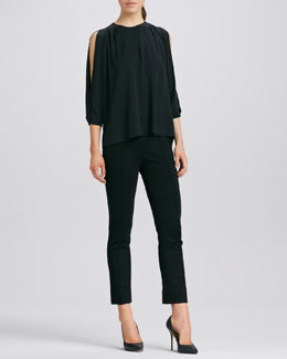 Diane von Furstenberg Astor Split-Sleeve Top & Clean Pinca Pants