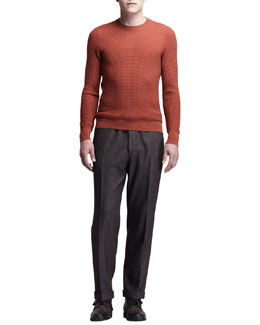 Maison Martin Margiela Crewneck Waffle-Knit Sweater & Drawstring Pants