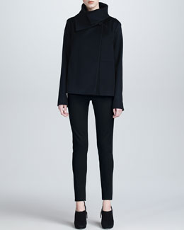 Armani Collezioni Wool Swing Jacket, Geometric Jersey Tee & Double-Faced Jersey Leggings