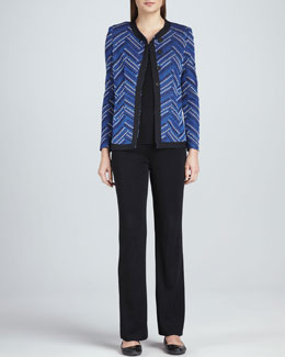 Misook Dani Geometric Patterned Jacket, Amy Knit Tank & Carlotta Wide-Leg Pants