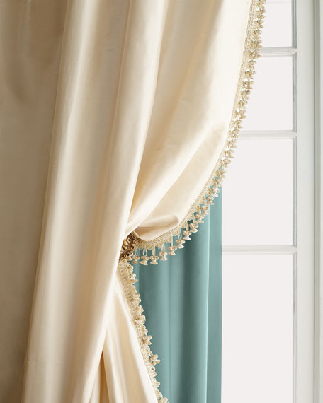 "Sweet Dreams Each 90""L Crystal Palace Imperial Silk Curtain"