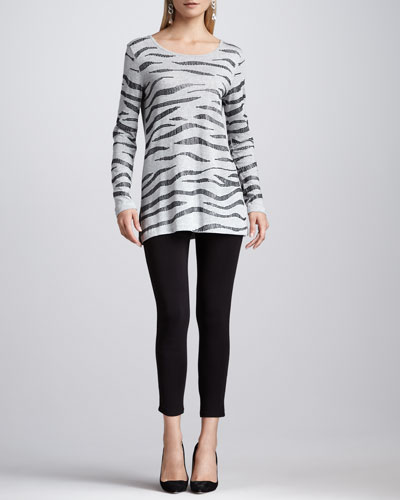 Animal Sequined Tunic & Cropped Jersey Leggings, Petite