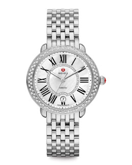 MICHELE Serein Stainless Diamond Watch Head & 16mm Bracelet Strap