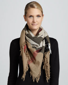 Burberry Check Square Scarf