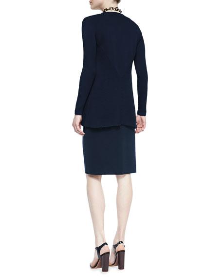 Silk Cotton Interlock Jacket, Midnight