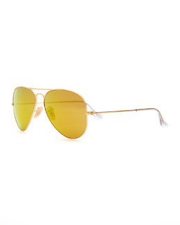 Ray-Ban Aviator Mirrored Sunglasses