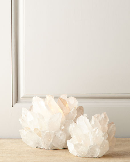Small Clear Quartz Votive Holder