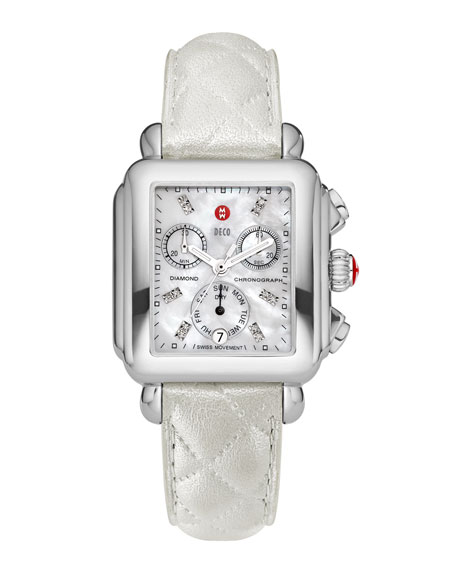 MICHELE 18mm Deco Diamond Dial Watch Head