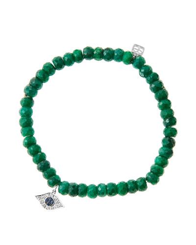 Sydney Evan 6mm Faceted Emerald Beaded Bracelet with