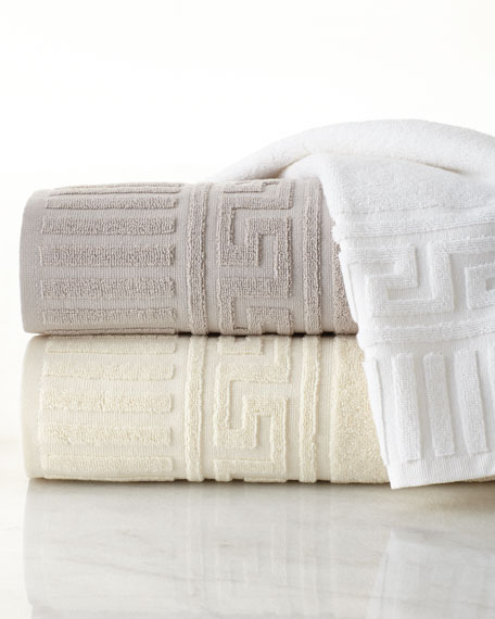 Greek Key Bath Towel