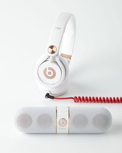 Rose-Gold-Tone On-Ear Headphones & Pill Speaker