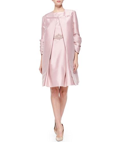 Satin Coat & Party Dress