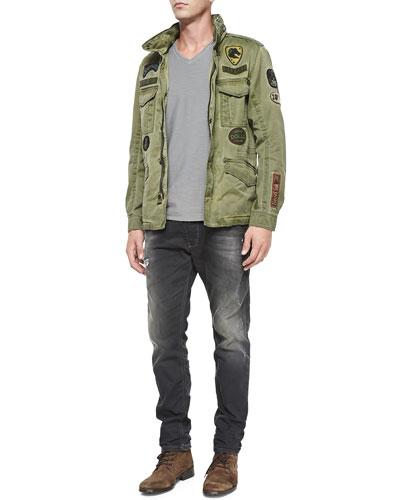 J-Amma Military Jacket w/ Patches, T-Tossik Slub Tee & Krooley 0835B Jogger Jeans