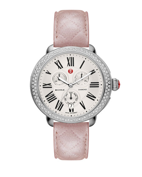 MICHELE18mm Serein Diamond Watch Head, Steel