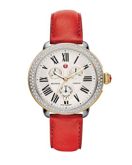 MICHELE 18mm Serein Diamond Two-Tone Watch Head