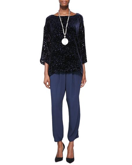 Eileen Fisher Slouchy Silk Ankle Pants, Women's