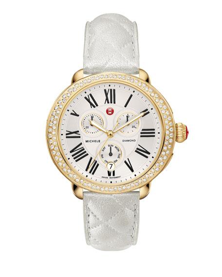 18mm Serein Diamond Watch Head, Gold