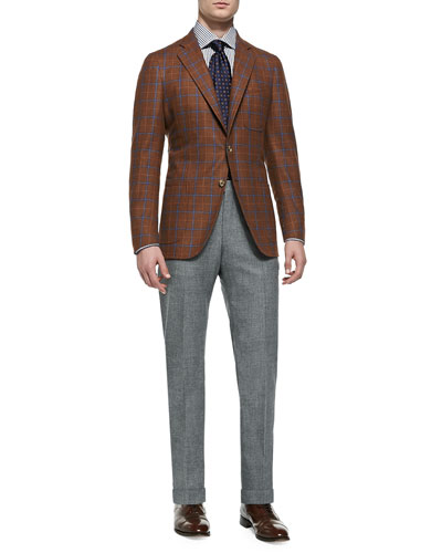 Windowpane Soft Jacket & Wool-Flannel Trousers
