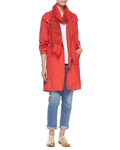 Eileen FisherHooded Long Anorak Jacket