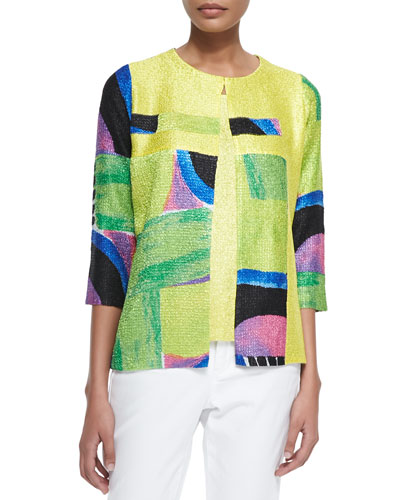 New Abstract Crinkle Jacket & Sweet Thing Tank, Petite