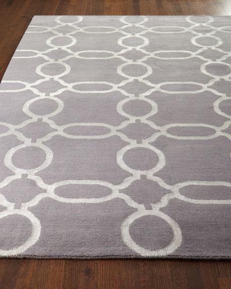 Gray Links Rug, 6' x 9'