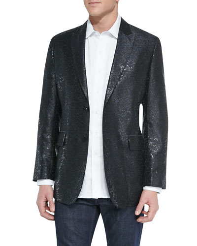 Limited Edition Shortland Metallic Jacket & Salisbury Tonal-Jacquard Sport Shirt