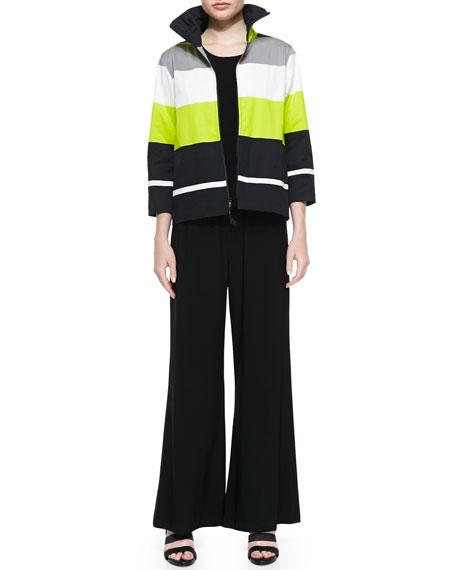 Caroline Rose Basic Knit Tank, Black, Plus Size
