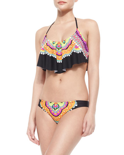 Nuevo Sol Printed Flutter Top & Printed Bottom