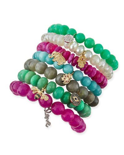Breaded Bracelets with Charms