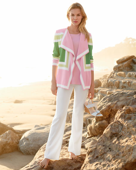 Colorblock Draped Cardigan, Plus Size
