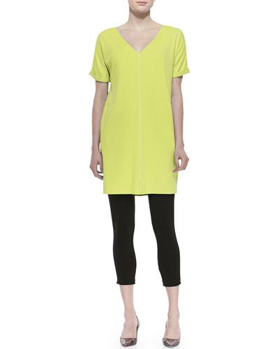 Long Cotton Interlock Tunic & Jersey Ankle Leggings, Women's