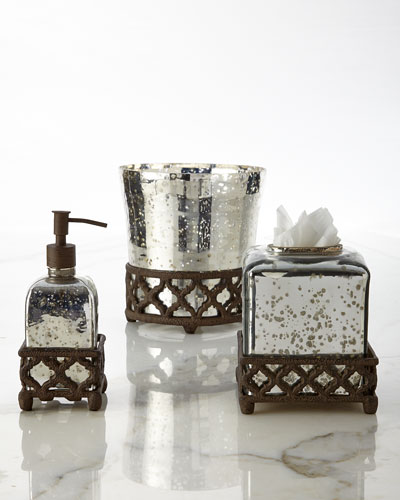 Mercury Glass Vanity Accessories