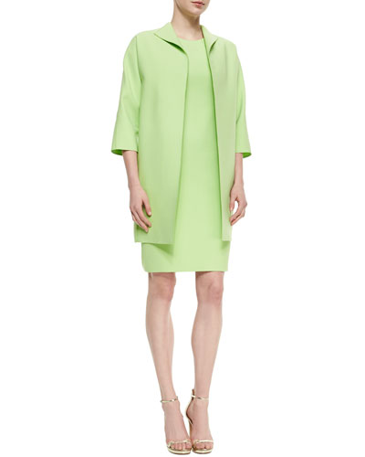 Mary Eloquent Cloth Topper Jacket & Alora Eloquent Cloth Sheath Dress