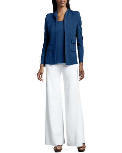 Lilly Textured Jacket, Amy Knit Tank & Palazzo Pants, Women's