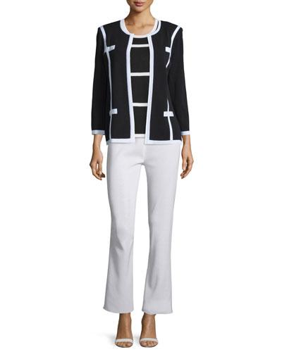 Milano Jacket, Striped Tank & Boot-Cut Pants, Women's