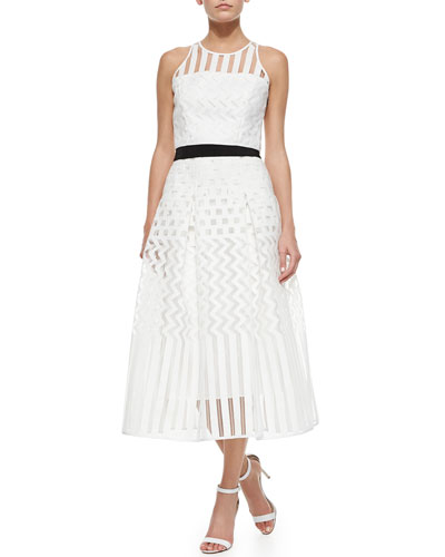 Geometric Crop Top & Geometric Ball Skirt
