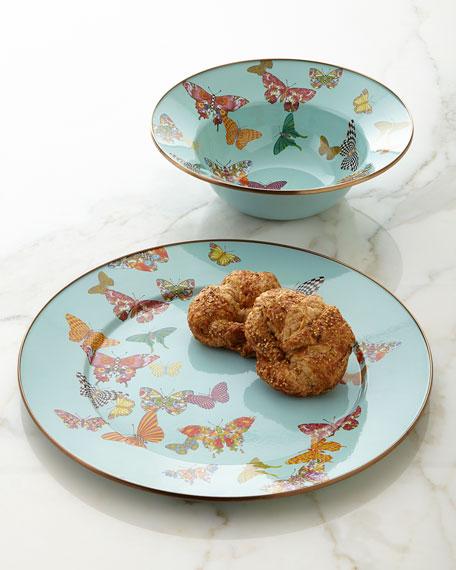 MacKenzie-Childs Sky Butterfly Garden Serving Platter