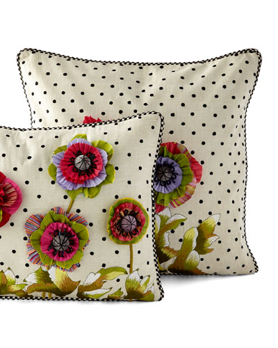 MacKenzie-Childs Cutting Garden & Dot Pillows