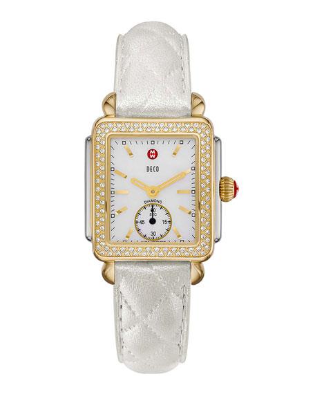 MICHELE16mm Deco Diamond Watch Head, Two-Tone