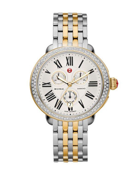MICHELE 18mm Serein Diamond Two-Tone Watch Head