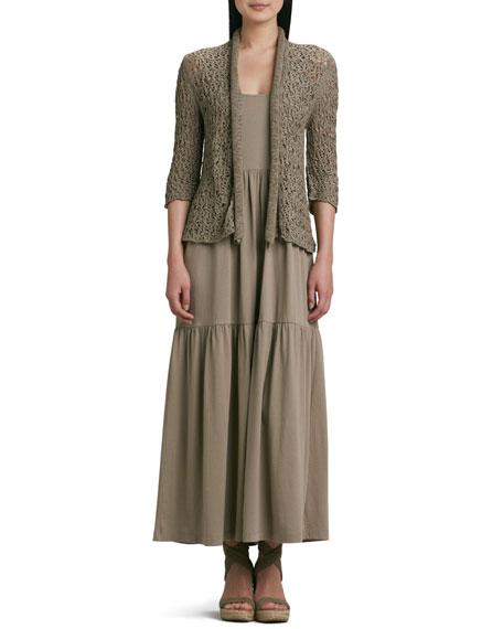 Joan VassTape Yarn Knit Cardigan, Plus Size