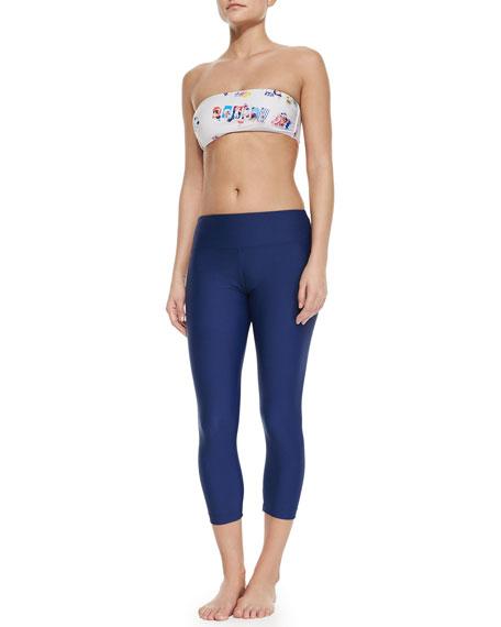 Cover UPF 50 Beach-Print Bandeau Bikini Top