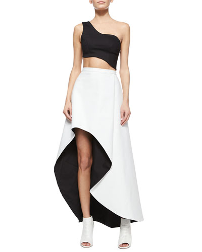 Liraz Asymmetric Crop Top & Chiara Two-Tone Skirt