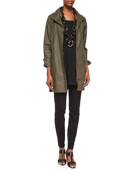 Eileen Fisher Waxed Twill A-line Jacket, Plus Size