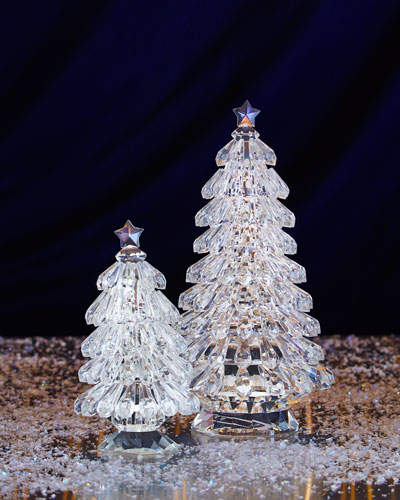 Faceted Glass Christmas Trees