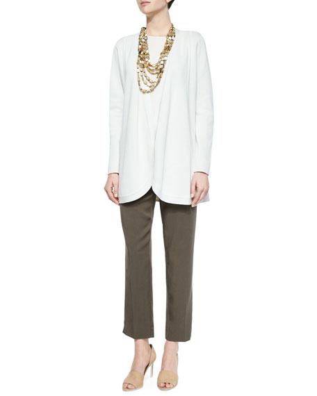 Eileen Fisher Sleeveless Silk Long Shell